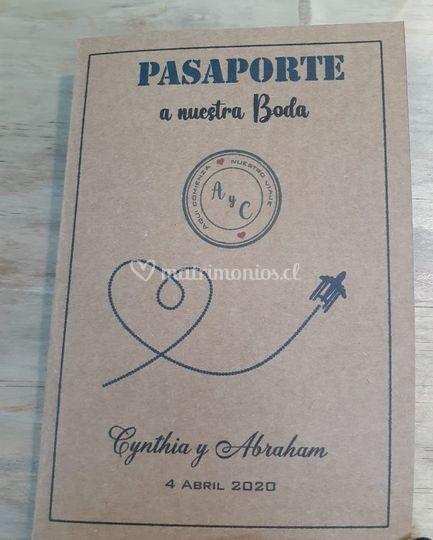 Parte pasaporte kraft