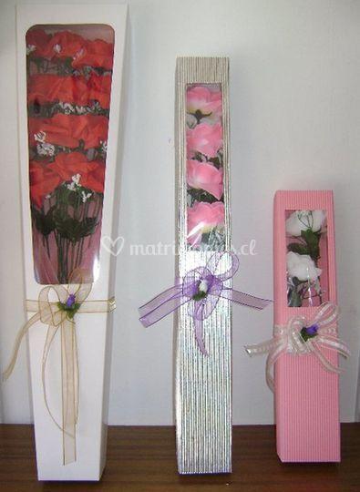 Flores en cajas