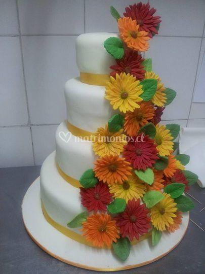Torta gerberas