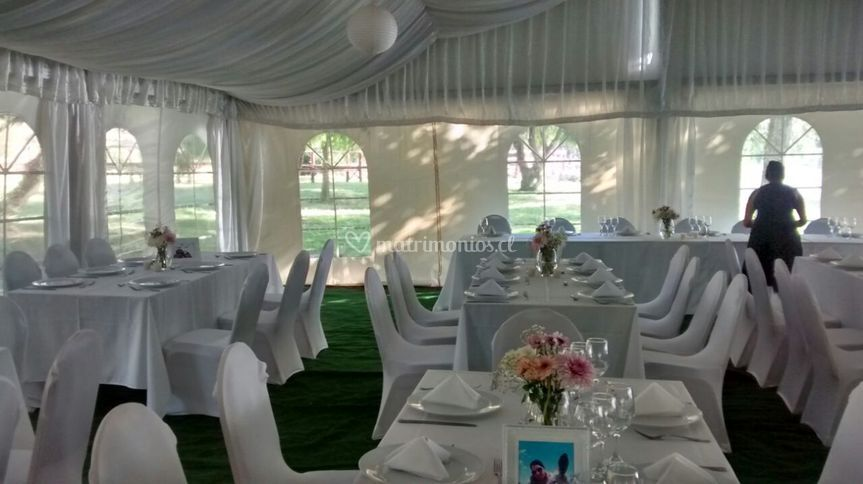 Interior carpa para matrimonio