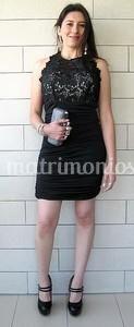 Vestido corto en negro