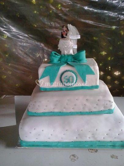 Torta para bodas de oro