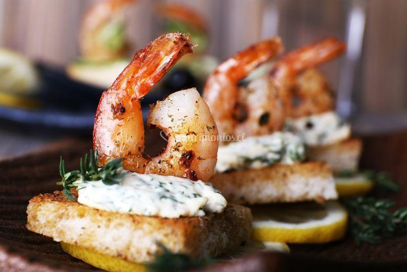 Bocados de camarón