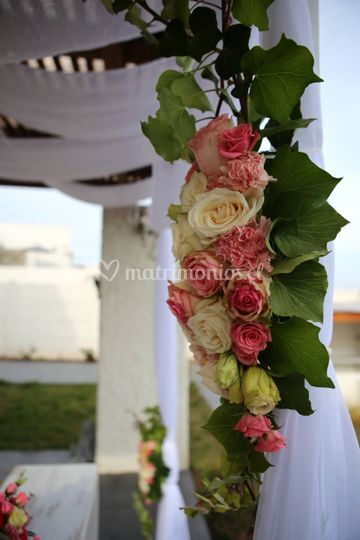 Detalle arco floral
