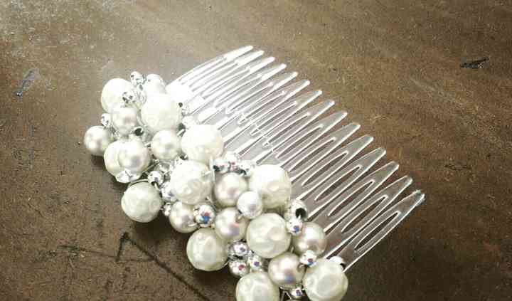 Peineta perlas