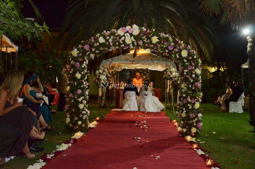 Matrimonio en jardines