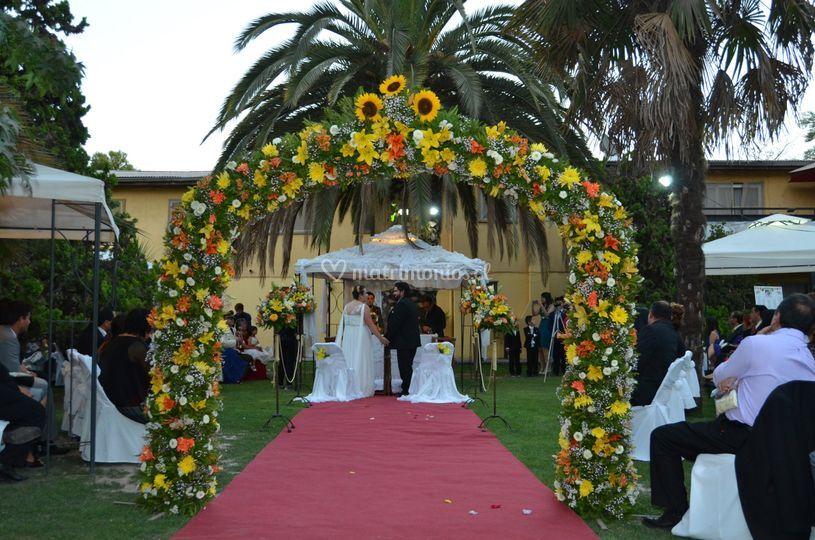 Arco natural de flores