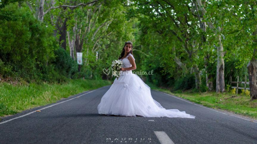 Novia en carretera