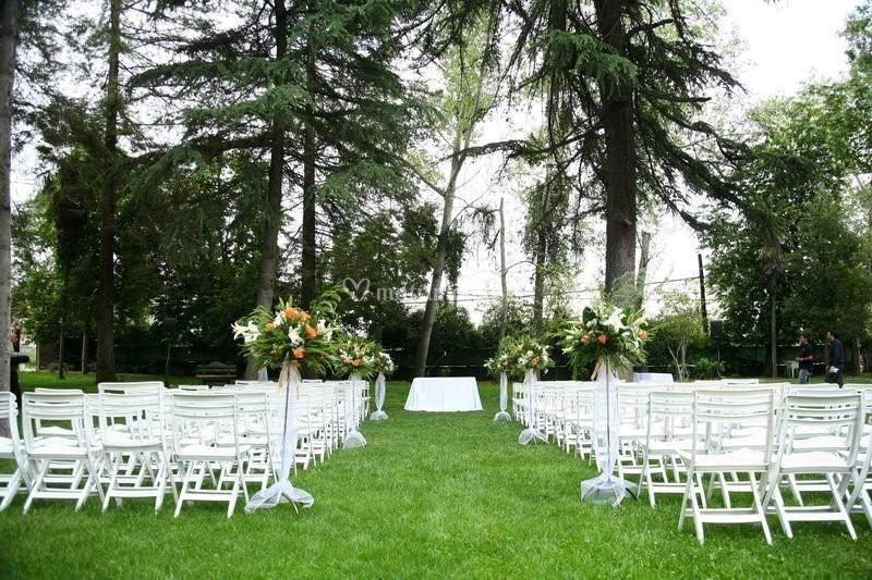 Ceremonia en parque
