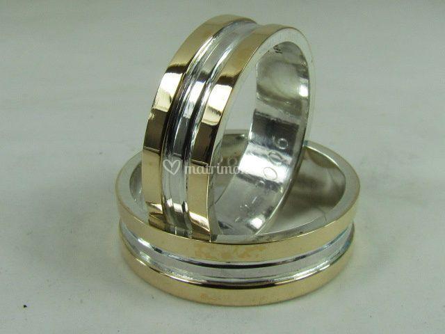 Argollas de plata con Oro