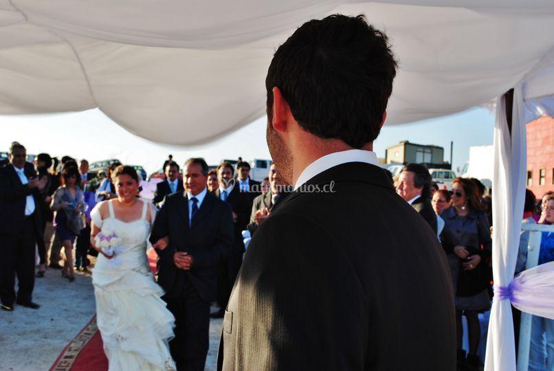 Recibiendo a la novia