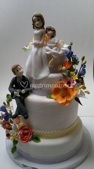 Torta de novios personalizada