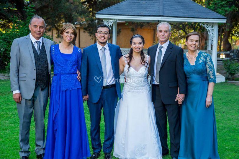 Vestido de madrinas y novia