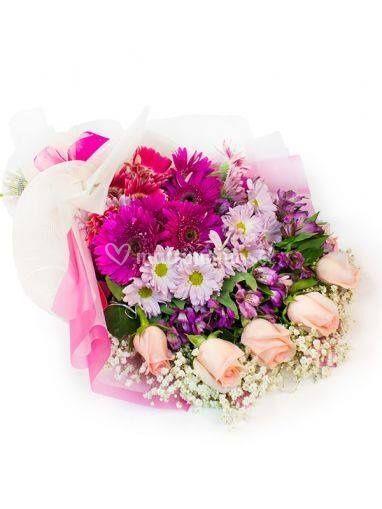 Bonitas flores de color rosa