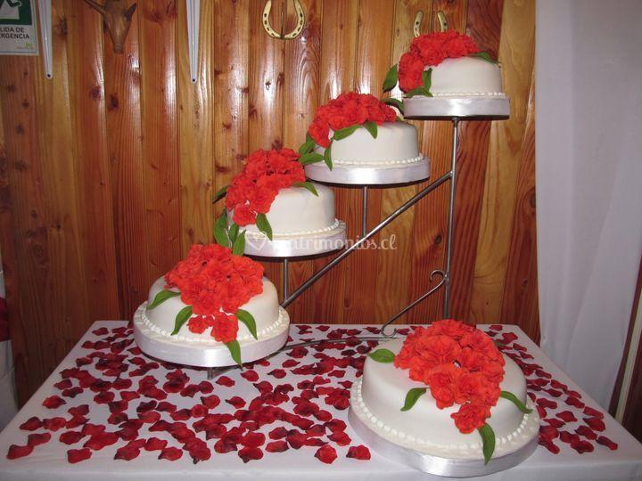 Torta rosas rojas