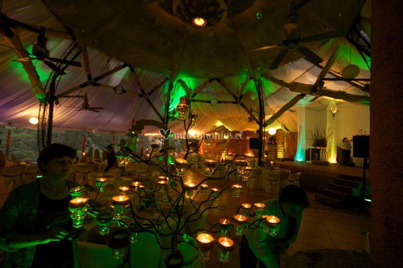 Salón Iluminado de Cascada de las Animas