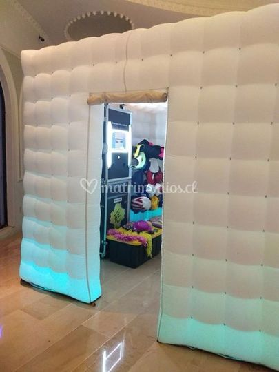 Cubo inflable luz led color