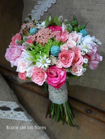 Mini rosas y color turquesa