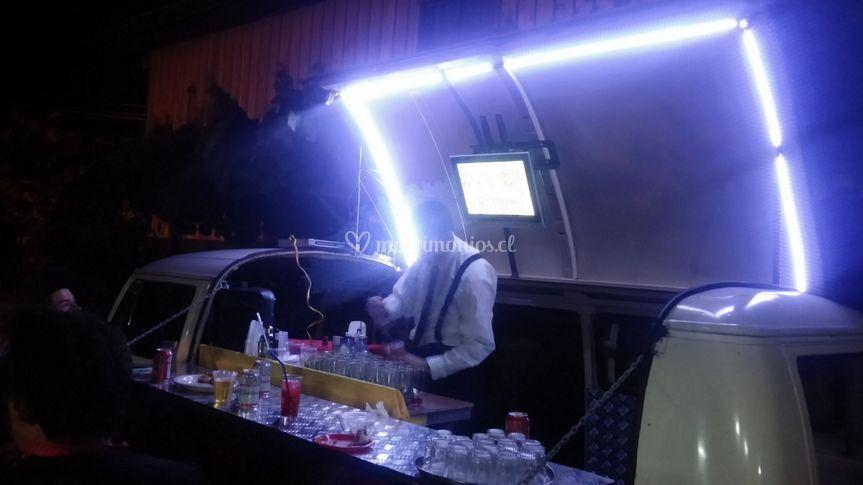 Barman en evento empresarial