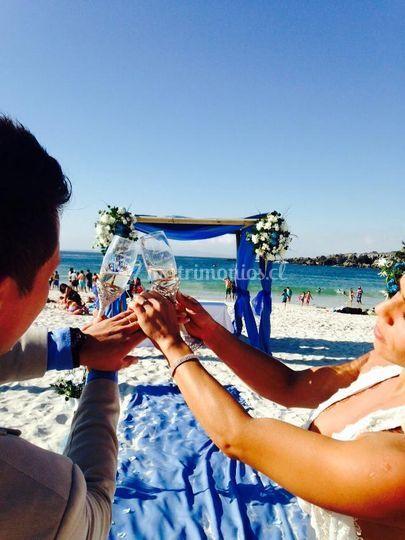 Arreglo en playa  ceremonia