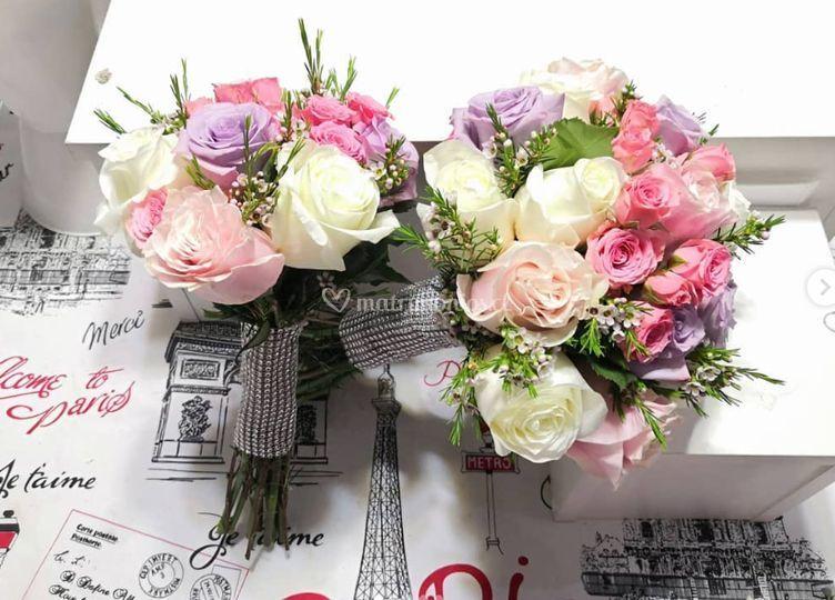 Pack ramo rosas, mini rosas