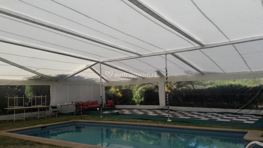 Carpa piscina