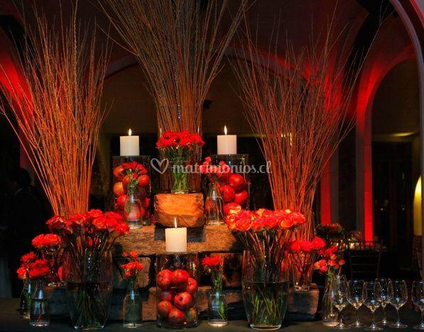 Manzanas en la boda