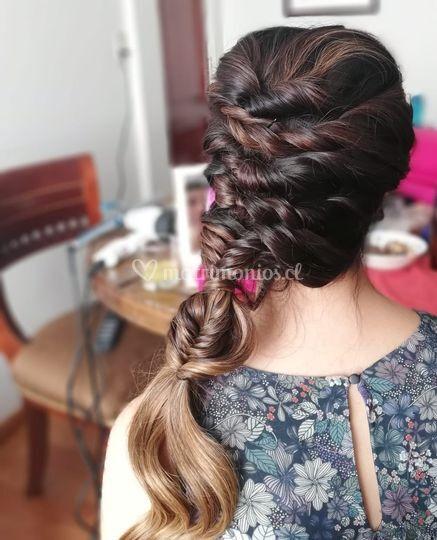Prueba de novia peinado
