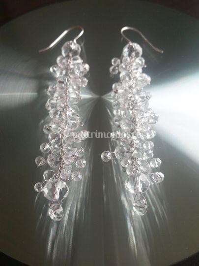 Aros 9cm, 50 cristales c/u