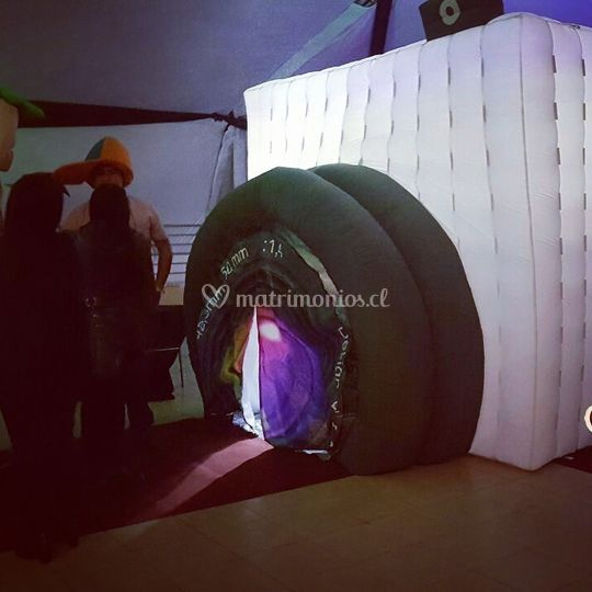 Fotocabina con inflable