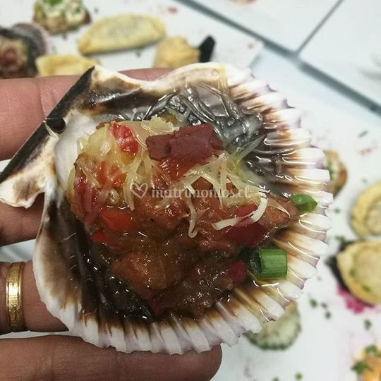 Ostión en su concha a la gallega
