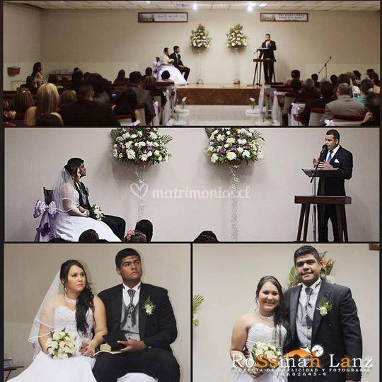 Cuadros con momentos de la boda