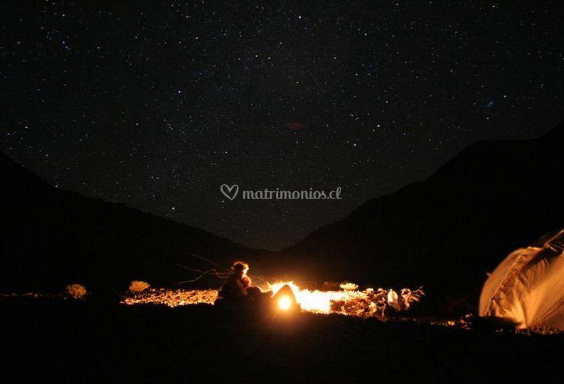 Admirando las estrellas