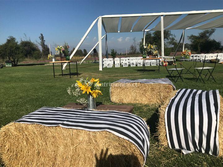Ceremonia en jardines