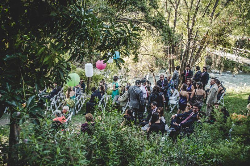 Ceremonia en el río