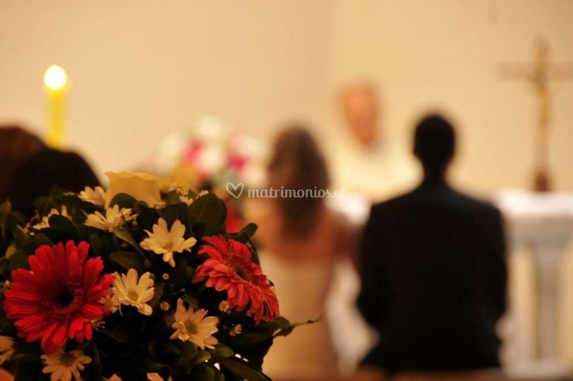 Cobertura en iglesia