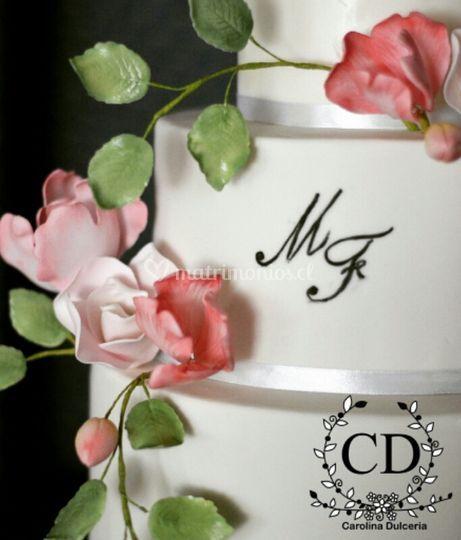 Torta novios floral