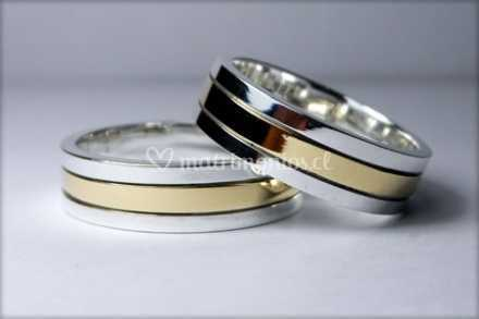 c84ed15da967 Argollas plata con oro de Joyería un Nuevo Estilo