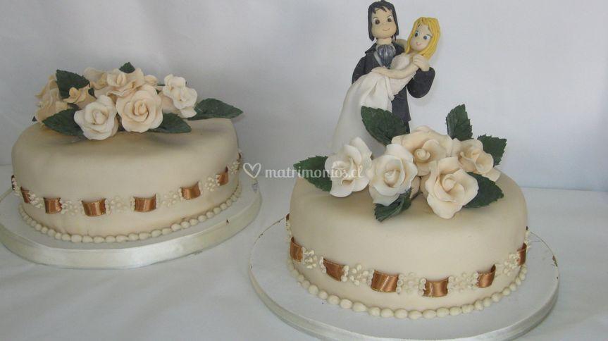 Torta con novia en brazos