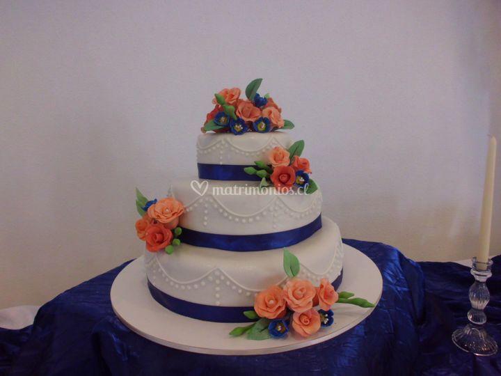Torta azulina de Pastelería Mini Max