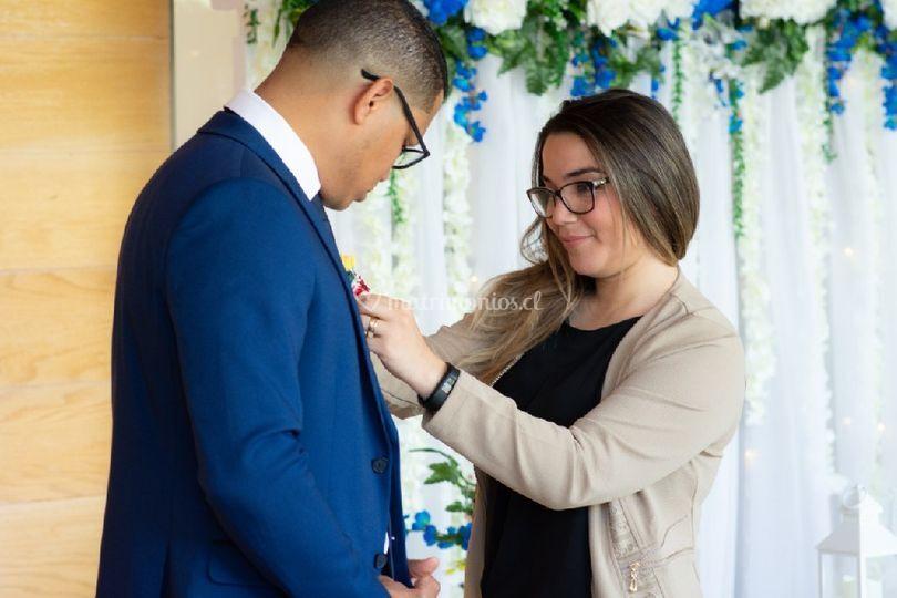 En una boda el novio atención