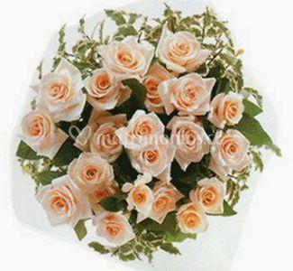 Rosas en color pastel