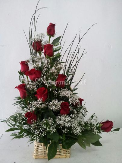 Arreglo de flores de mesa