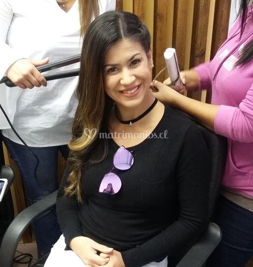 Maquillaje a Viví Rodríguez