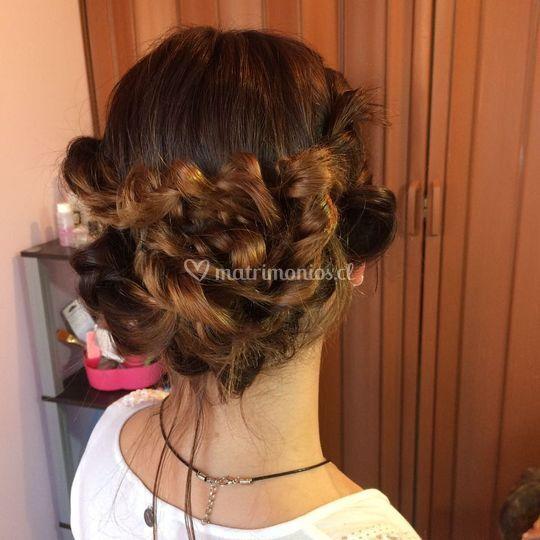 Peinado prueba novia