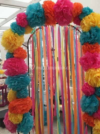 Arco de pompones