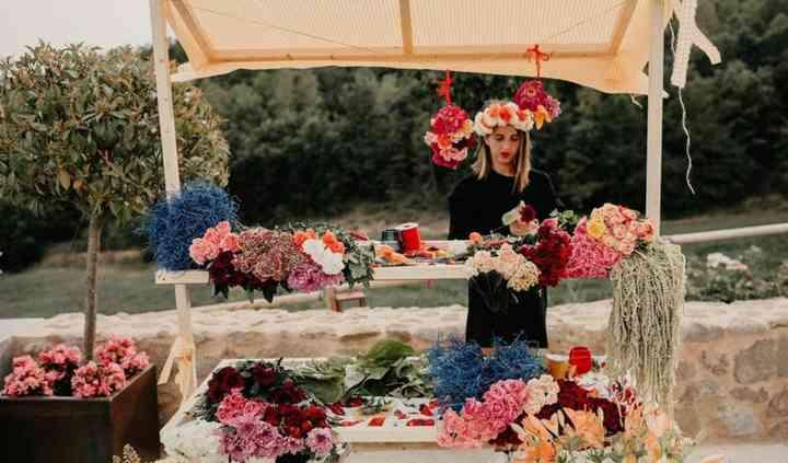 Cotillón de flores naturales