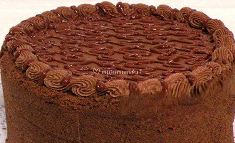 Torta de chocolate con manjar