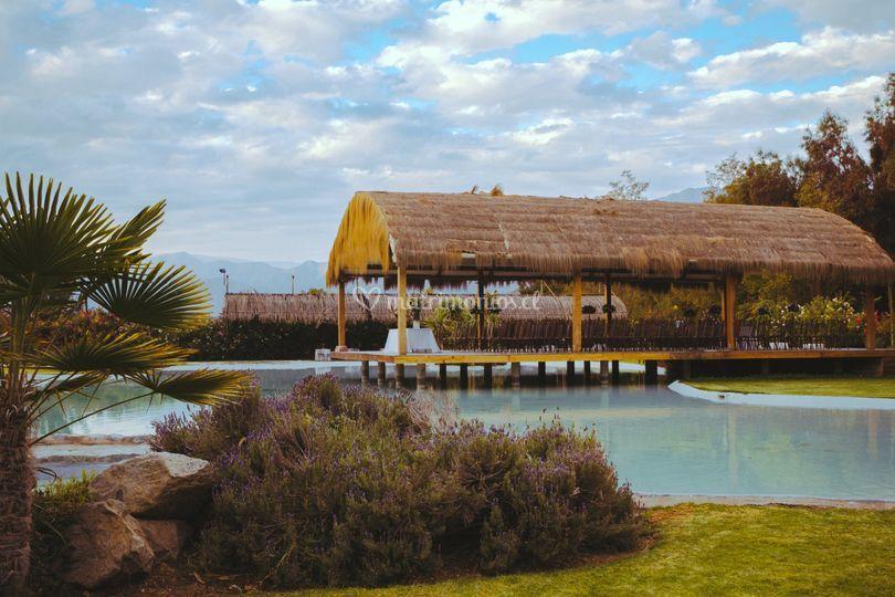 Laguna y ceremonia