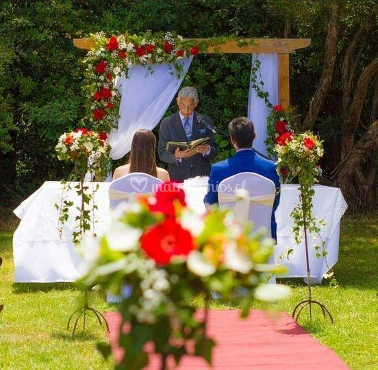 Ceremonia en le mismo lugar